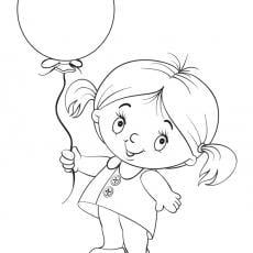 kolorowanka-dziewczynka-i-balon