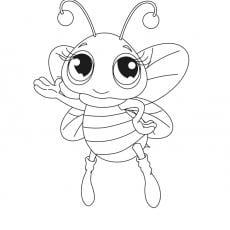 kolorowanka-pszczolka
