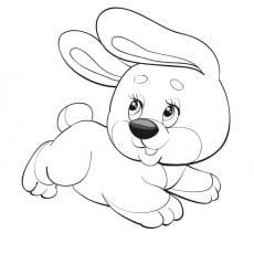 kolorowanka-zajaczek