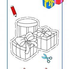 wycinanka-kolorowanka-prezenty