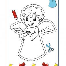 wycinanka-kolorowanka-aniolek