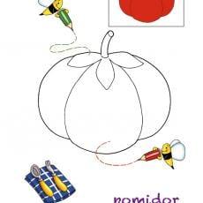 kolorowanki-jedzenie-pomidor