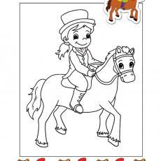 kolorowanka-dziewczynka-i-kon